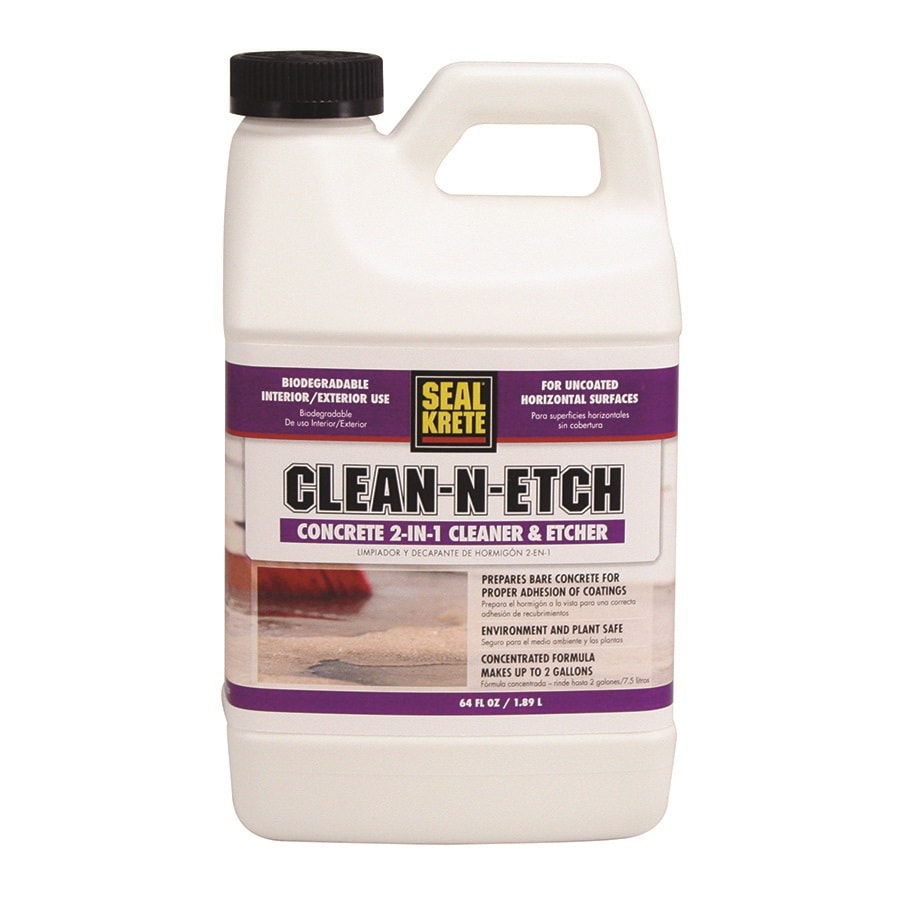 Shop seal krete interior exterior concentrated concrete for Indoor concrete cleaner