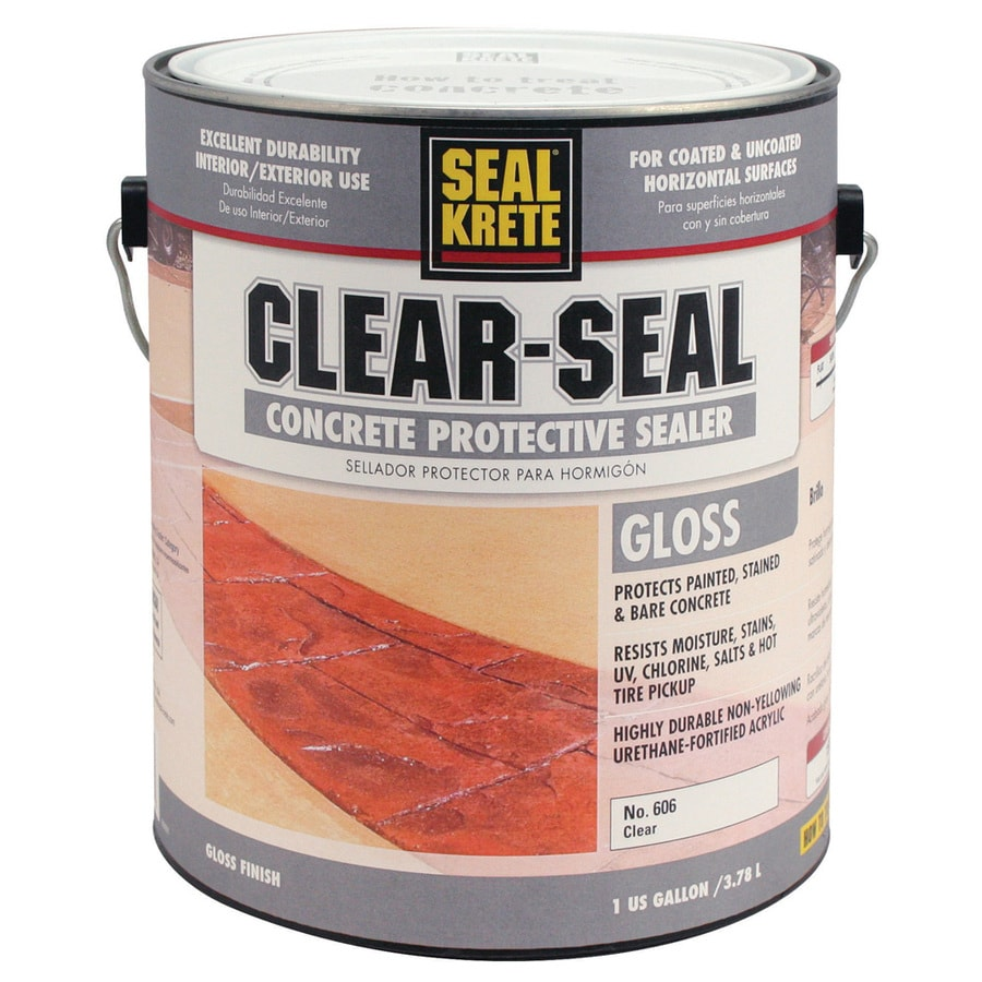 sealkrete clearseal concrete protective sealer 1part clear gloss garage floor