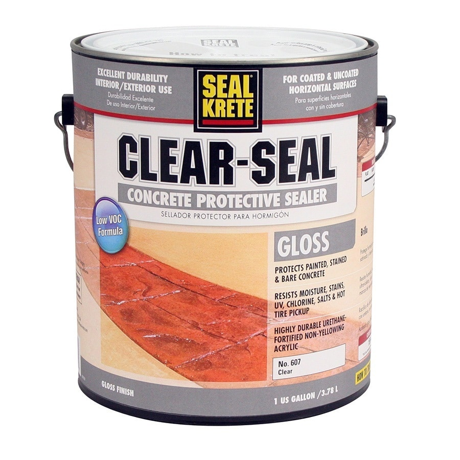 sealkrete clear gloss garage floor epoxy actual net contents 1gallon