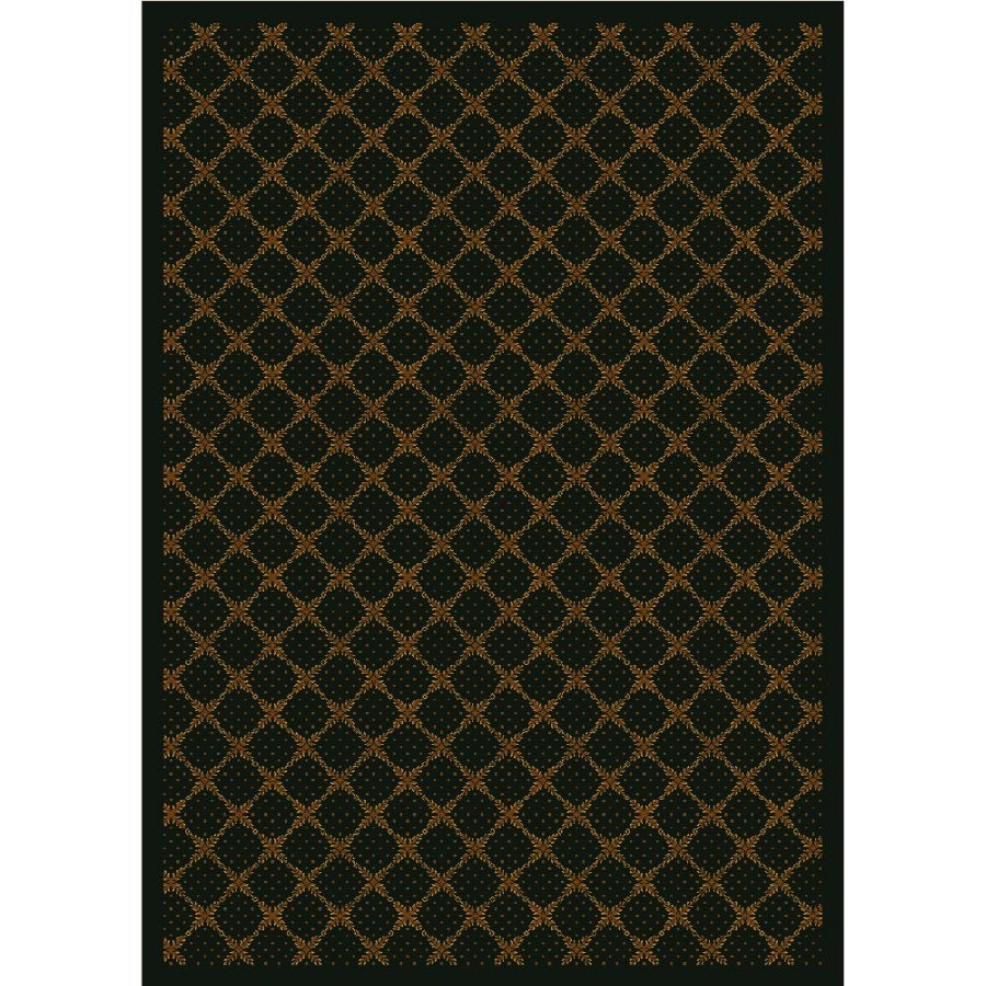 Milliken Kismet Rectangular Brown Transitional Tufted Area Rug (Common: 8-ft x 11-ft; Actual: 7.66-ft x 10.75-ft)
