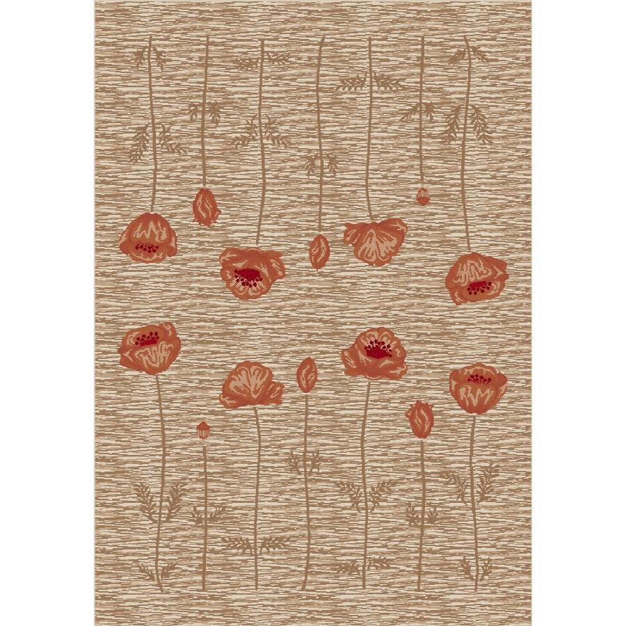 Milliken Poppy Multicolor Rectangular Indoor Tufted Area Rug (Common: 5 x 8; Actual: 64-in W x 92-in L)