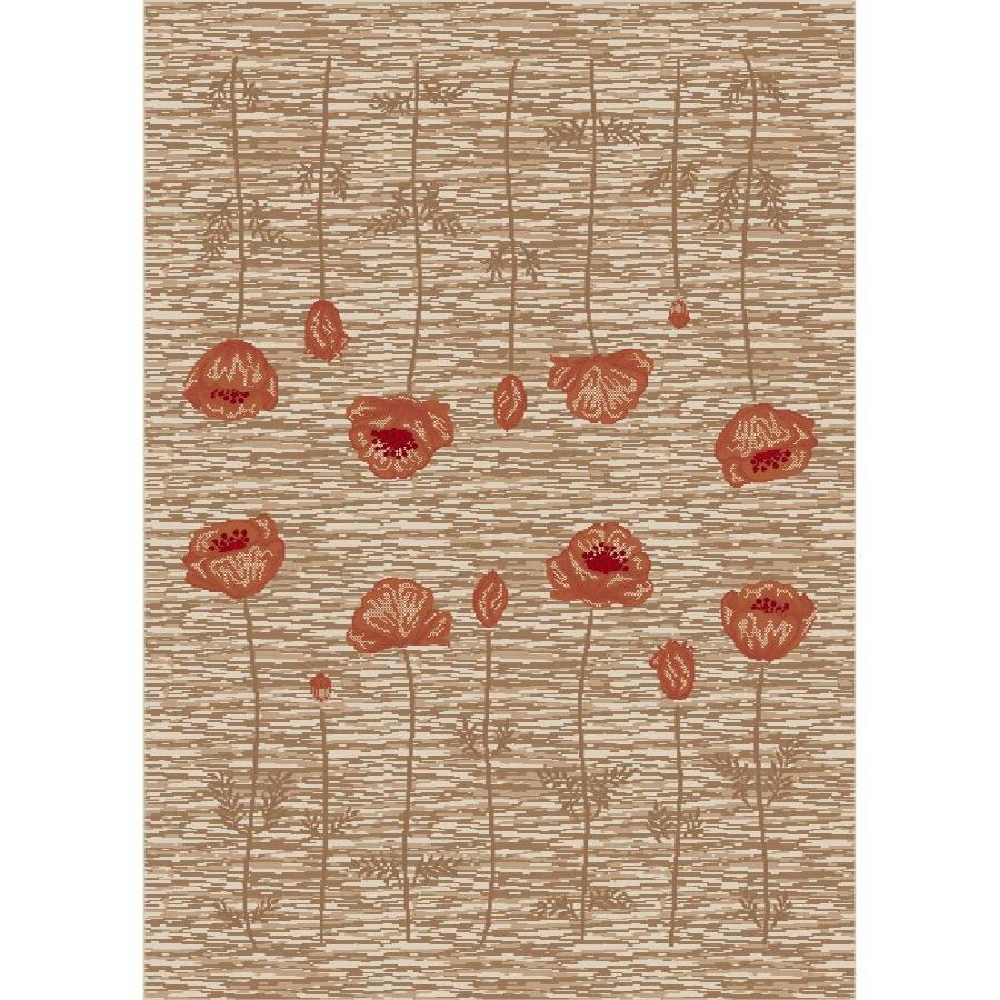 Milliken Poppy Multicolor Rectangular Indoor Tufted Area Rug (Common: 4 x 6; Actual: 46-in W x 64-in L)