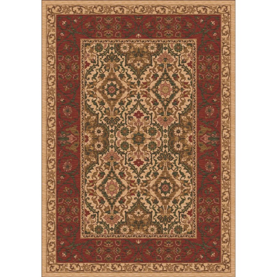 Milliken Sandakan Rectangular Cream Transitional Tufted Area Rug (Common: 5-ft x 8-ft; Actual: 5.33-ft x 7.66-ft)