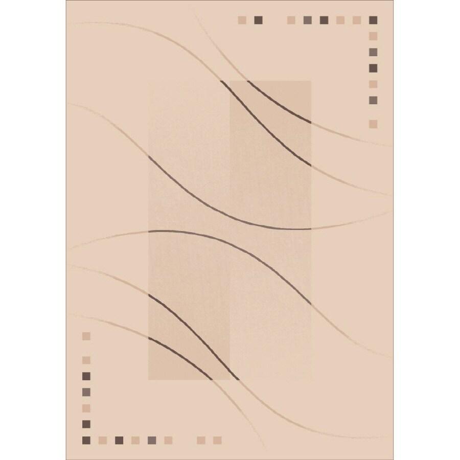 Milliken Caliente Rectangular Cream Transitional Tufted Area Rug (Common: 8-ft x 11-ft; Actual: 7.66-ft x 10.75-ft)
