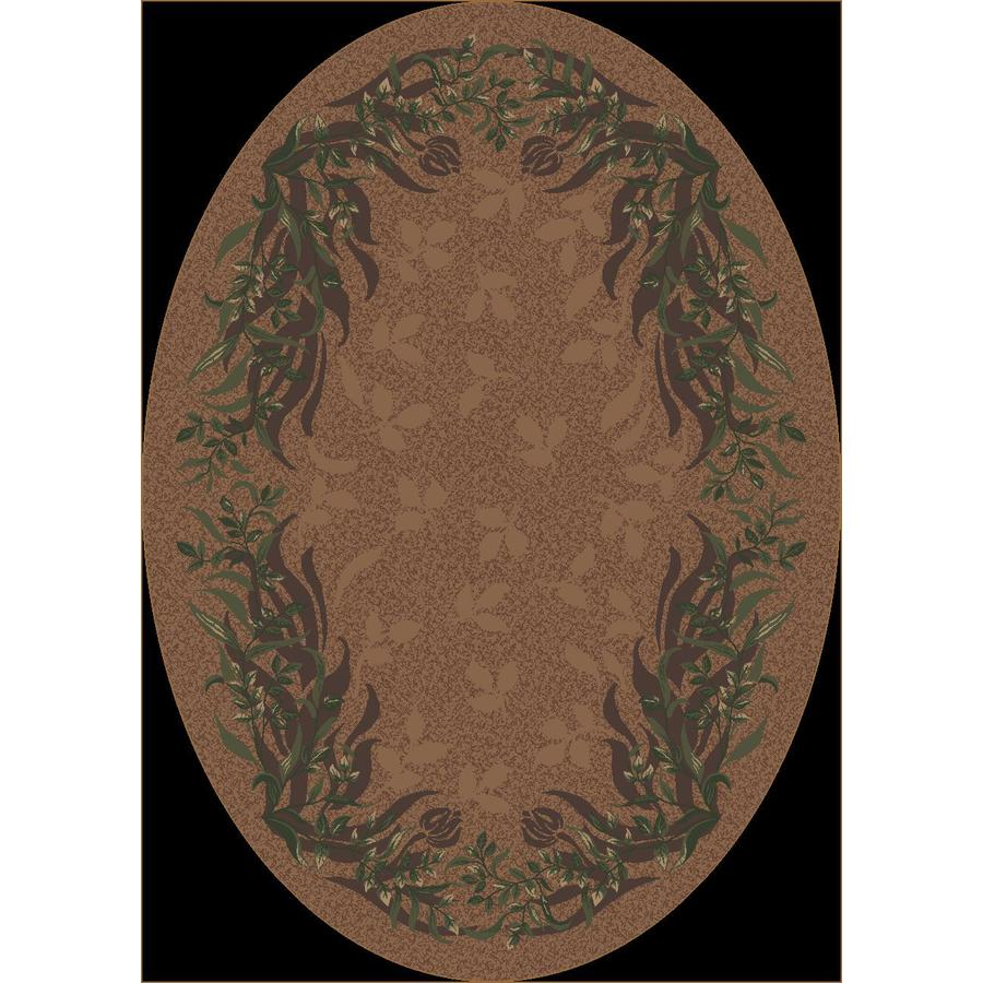 Milliken Baskerville Oval Brown Transitional Tufted Area Rug (Common: 4-ft x 6-ft; Actual: 3.83-ft x 5.33-ft)