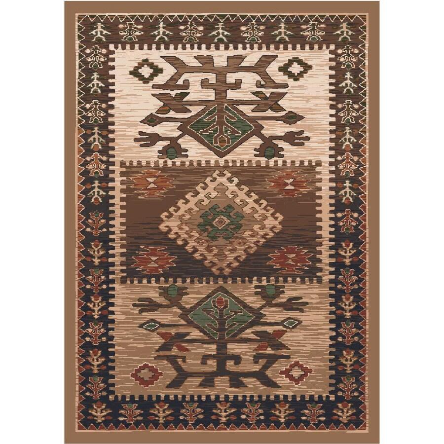 Milliken Ahvas Rectangular Brown Transitional Tufted Area Rug (Common: 4-ft x 6-ft; Actual: 3.83-ft x 5.33-ft)