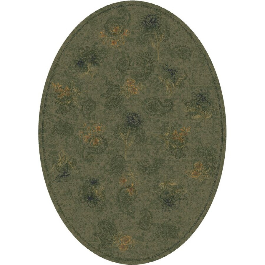Milliken Vintage Multicolor Oval Indoor Tufted Area Rug (Common: 8 x 11; Actual: 92-in W x 129-in L)