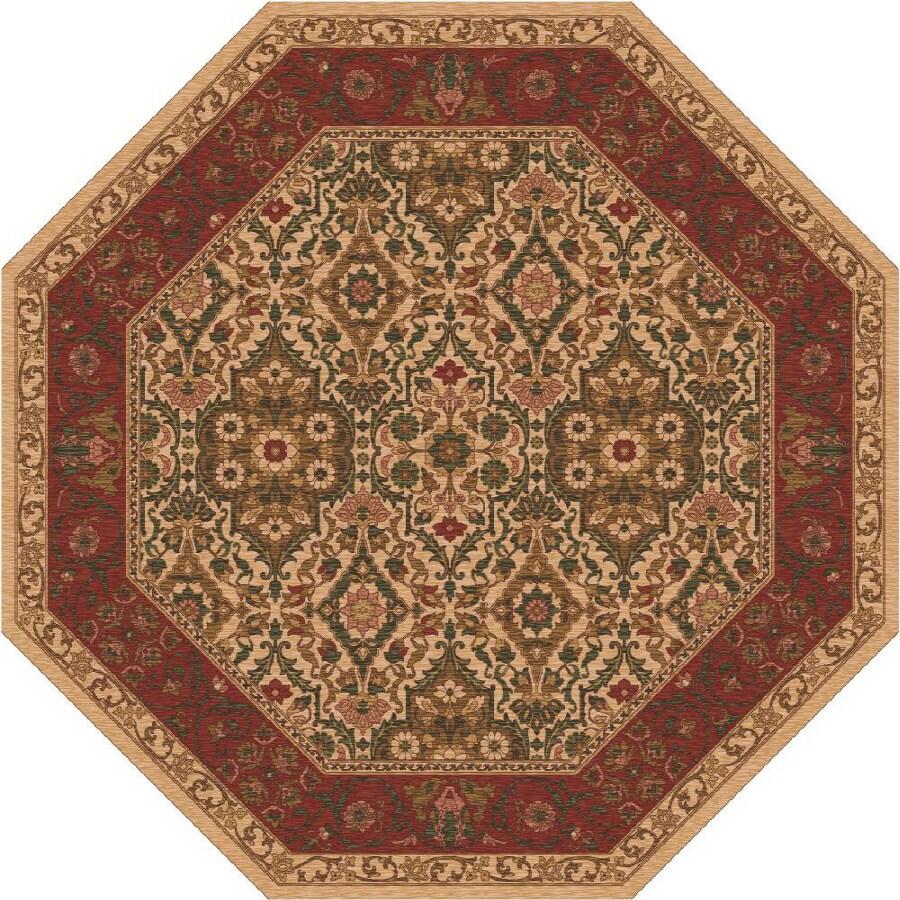 Milliken Sandakan Multicolor Octagonal Indoor Tufted Area Rug (Common: 8 x 8; Actual: 91-in W x 91-in L)