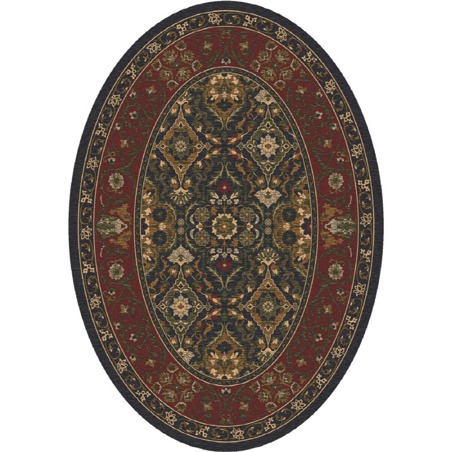 Milliken Sandakan Multicolor Oval Indoor Tufted Area Rug (Common: 5 x 8; Actual: 64-in W x 92-in L)