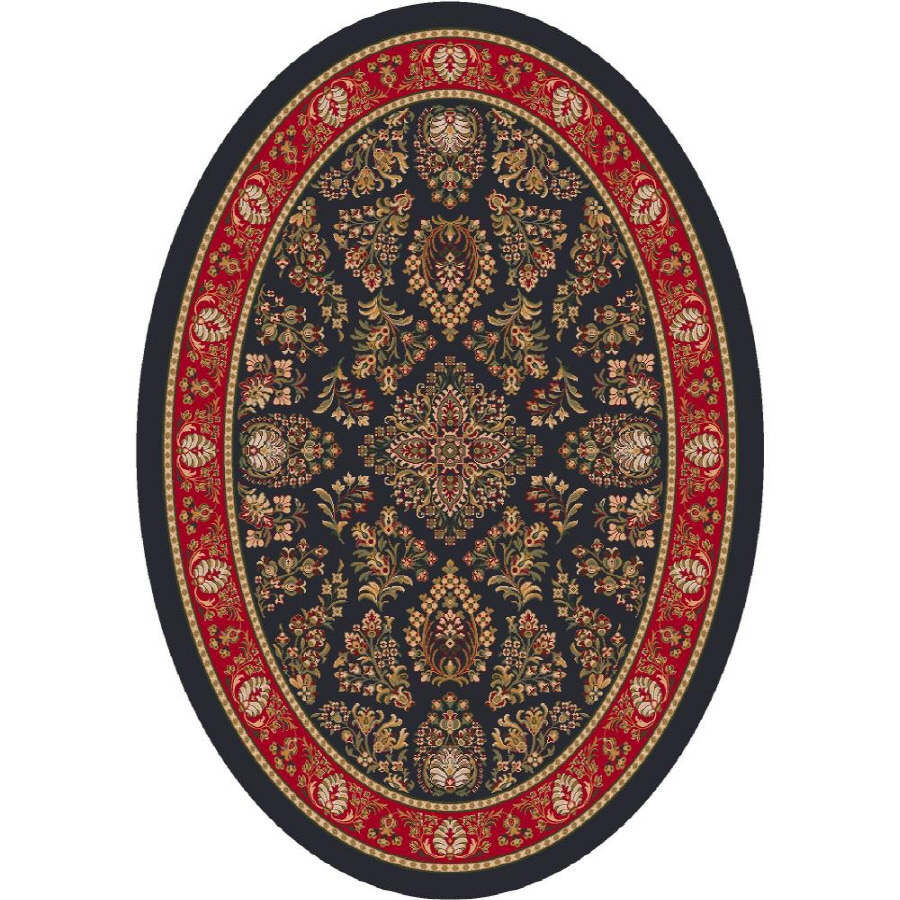 Milliken Halkara Multicolor Oval Indoor Tufted Area Rug (Common: 5 x 8; Actual: 64-in W x 92-in L)
