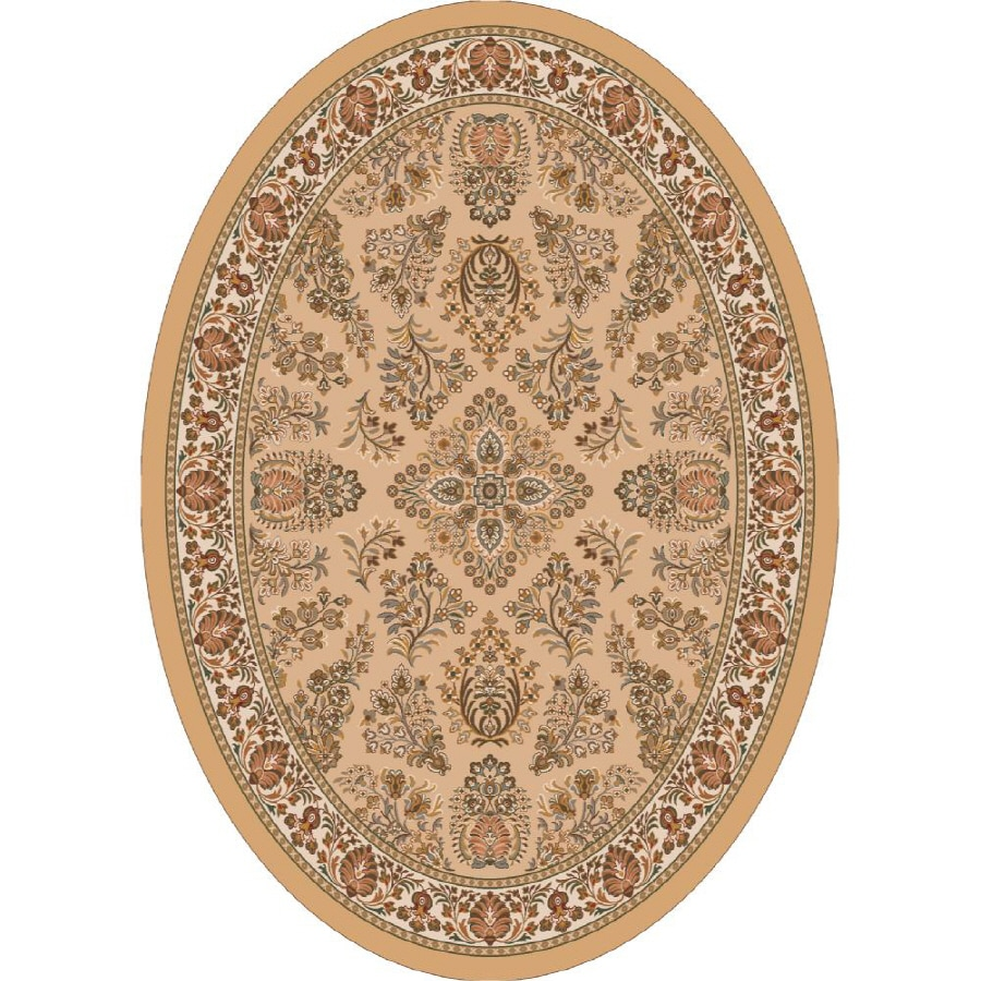 Milliken Halkara Multicolor Oval Indoor Tufted Area Rug (Common: 8 x 11; Actual: 92-in W x 129-in L)