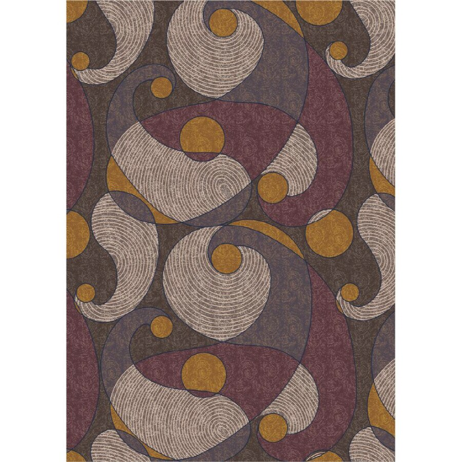 Milliken Remous Rectangular Brown Transitional Tufted Area Rug (Common: 8-ft x 11-ft; Actual: 7.66-ft x 10.75-ft)