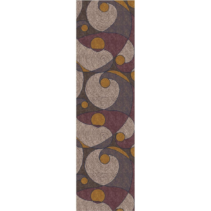 Milliken Multicolor Tufted Runner (Common: 2-ft x 8-ft; Actual: 2.083-ft x 7.666-ft)
