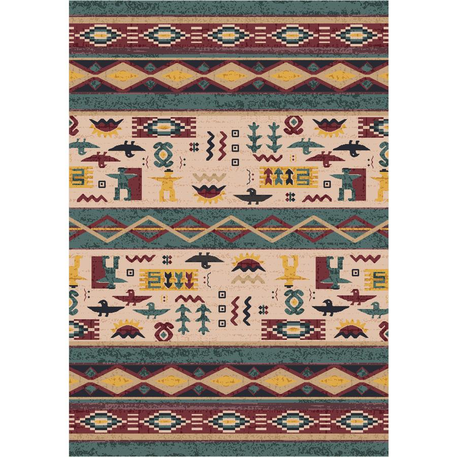 Milliken Wide Ruins Rectangular Green Transitional Tufted Area Rug (Common: 5-ft x 8-ft; Actual: 5.33-ft x 7.66-ft)