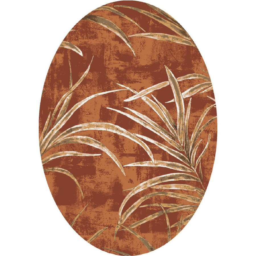 Milliken Rain Forest Multicolor Oval Indoor Tufted Area Rug (Common: 5 x 8; Actual: 64-in W x 92-in L)