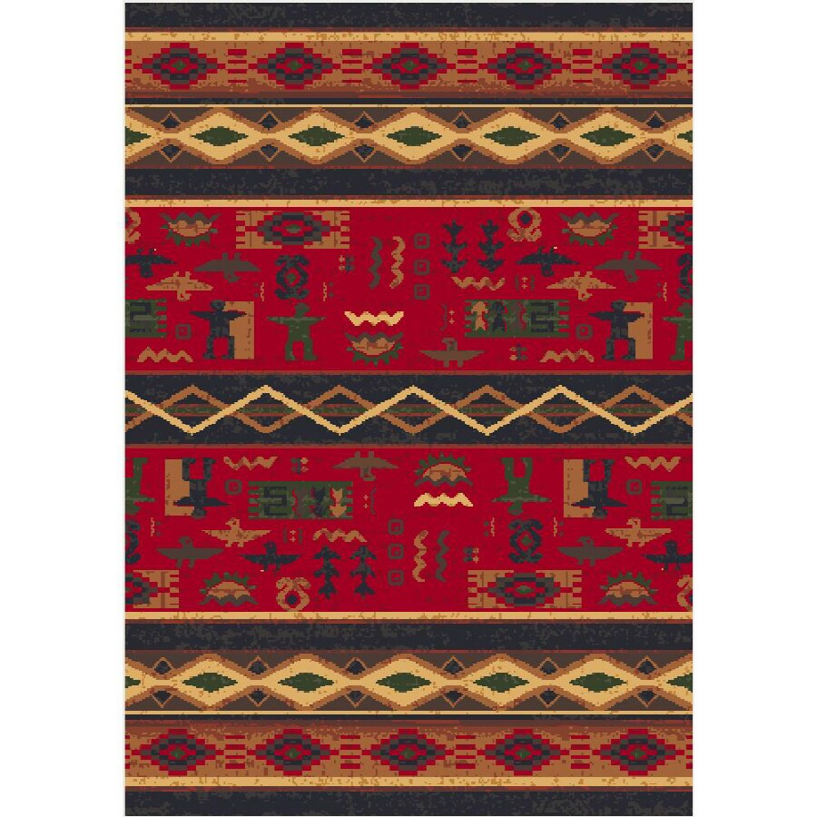Milliken Rectangular Red Tufted Accent Rug (Common: 2-ft x 4-ft; Actual: 24-in x 46-in)