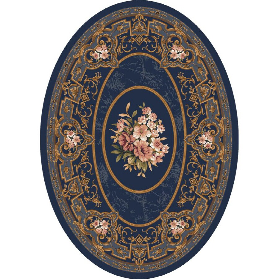 Milliken Montfluer Multicolor Oval Indoor Tufted Area Rug (Common: 8 x 10; Actual: 92-in W x 129-in L)