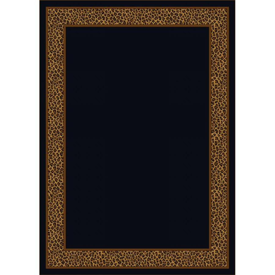 Milliken Lots Of Spots Rectangular Black Transitional Tufted Area Rug (Common: 8-ft x 11-ft; Actual: 7.66-ft x 10.75-ft)