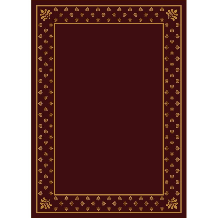 Milliken Royalty Rectangular Red Transitional Tufted Area Rug (Common: 8-ft x 11-ft; Actual: 7.66-ft x 10.75-ft)