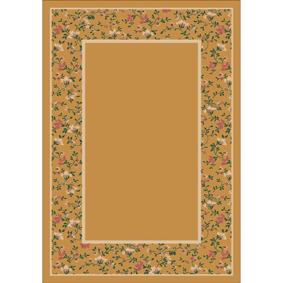 Milliken Appalachia Rectangular Yellow Transitional Tufted Area Rug (Common: 5-ft x 8-ft; Actual: 5.33-ft x 7.66-ft)