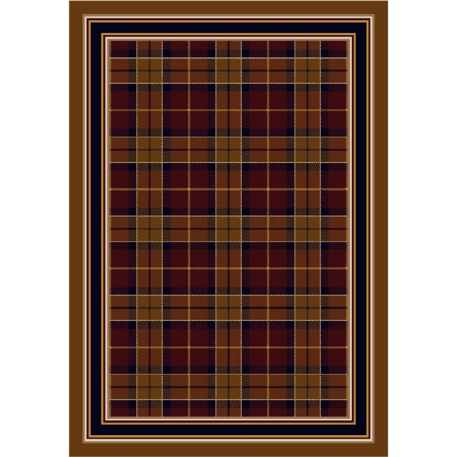 Milliken Stratford Rectangular Red Transitional Tufted Area Rug (Common: 5-ft x 8-ft; Actual: 5.33-ft x 7.66-ft)
