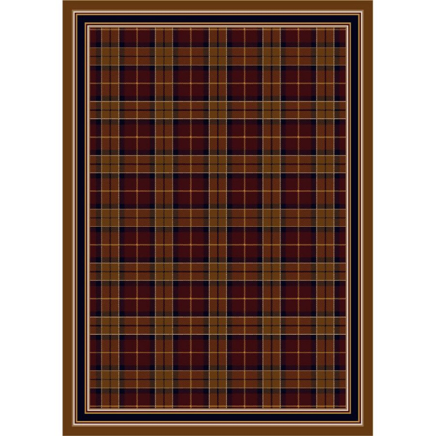 Milliken Stratford Rectangular Red Transitional Tufted Area Rug (Common: 8-ft x 11-ft; Actual: 7.66-ft x 10.75-ft)