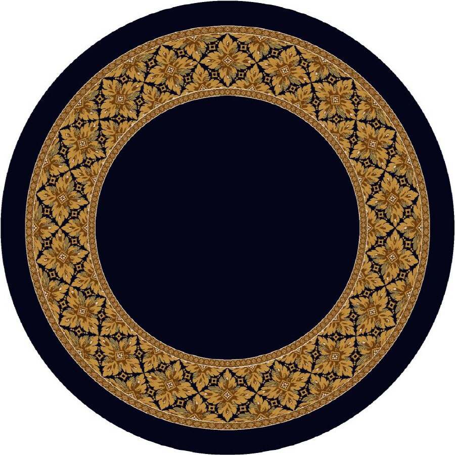 Milliken Abbott Round Blue Transitional Tufted Area Rug (Common: 8-ft x 8-ft; Actual: 7.58-ft x 7.58-ft)