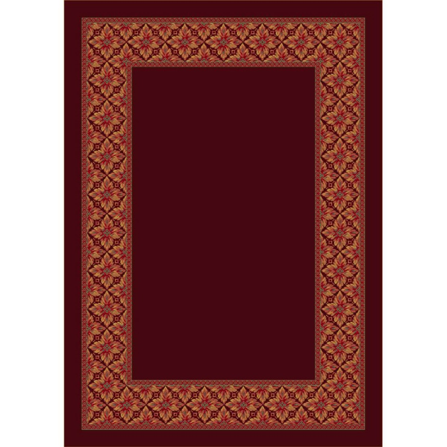 Milliken Abbott Rectangular Red Transitional Tufted Area Rug (Common: 8-ft x 11-ft; Actual: 7.66-ft x 10.75-ft)