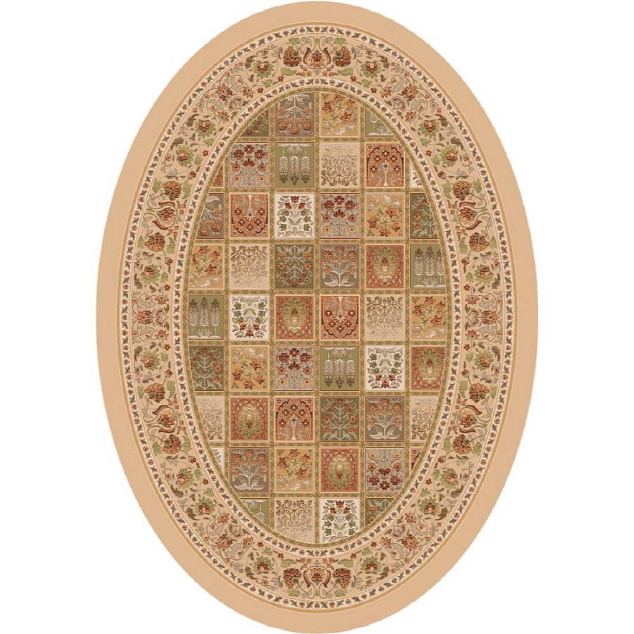 Milliken Pristina Multicolor Oval Indoor Tufted Area Rug (Common: 5 x 8; Actual: 64-in W x 92-in L)