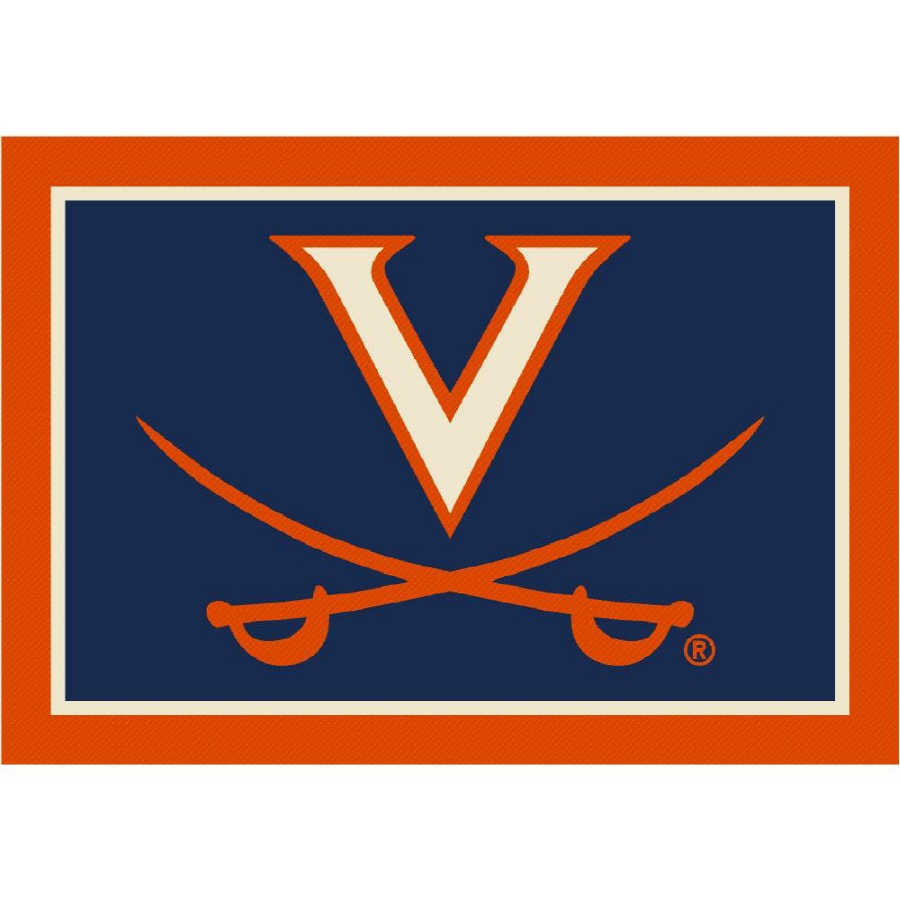 Milliken 5-ft 4-in x 7-ft 8-in University of Virginia Area Rug