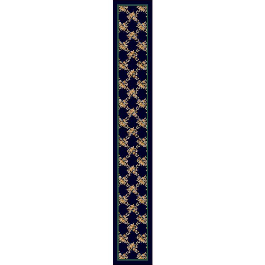 Milliken Rossetti Blue Tufted Runner (Common: 2-ft x 16-ft; Actual: 2.333-ft x 15.5-ft)
