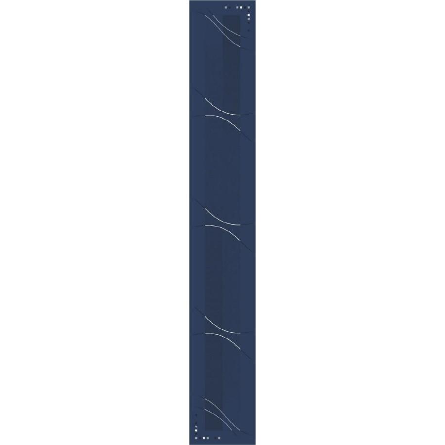 Milliken Blue Tufted Runner (Common: 2-ft x 16-ft; Actual: 2.333-ft x 15.5-ft)