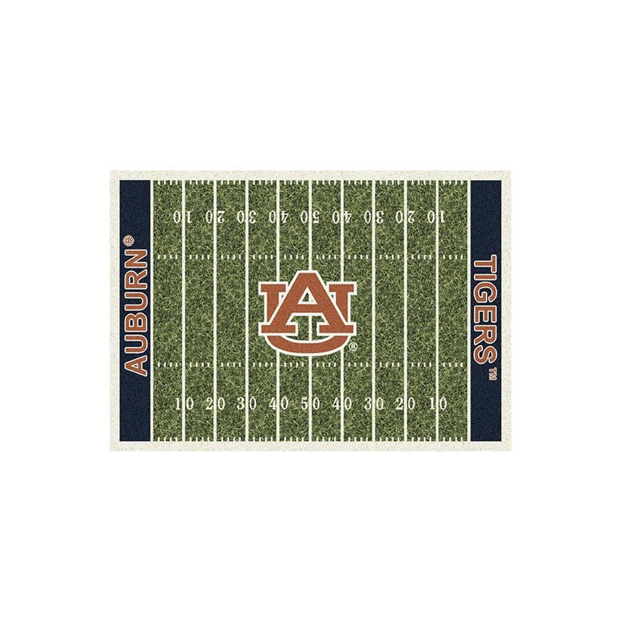 Milliken NCAA College Home Field Multicolor Rectangular Indoor Tufted Sports Area Rug (Common: 8 x 10; Actual: 7.67-ft W x 10.75-ft L)