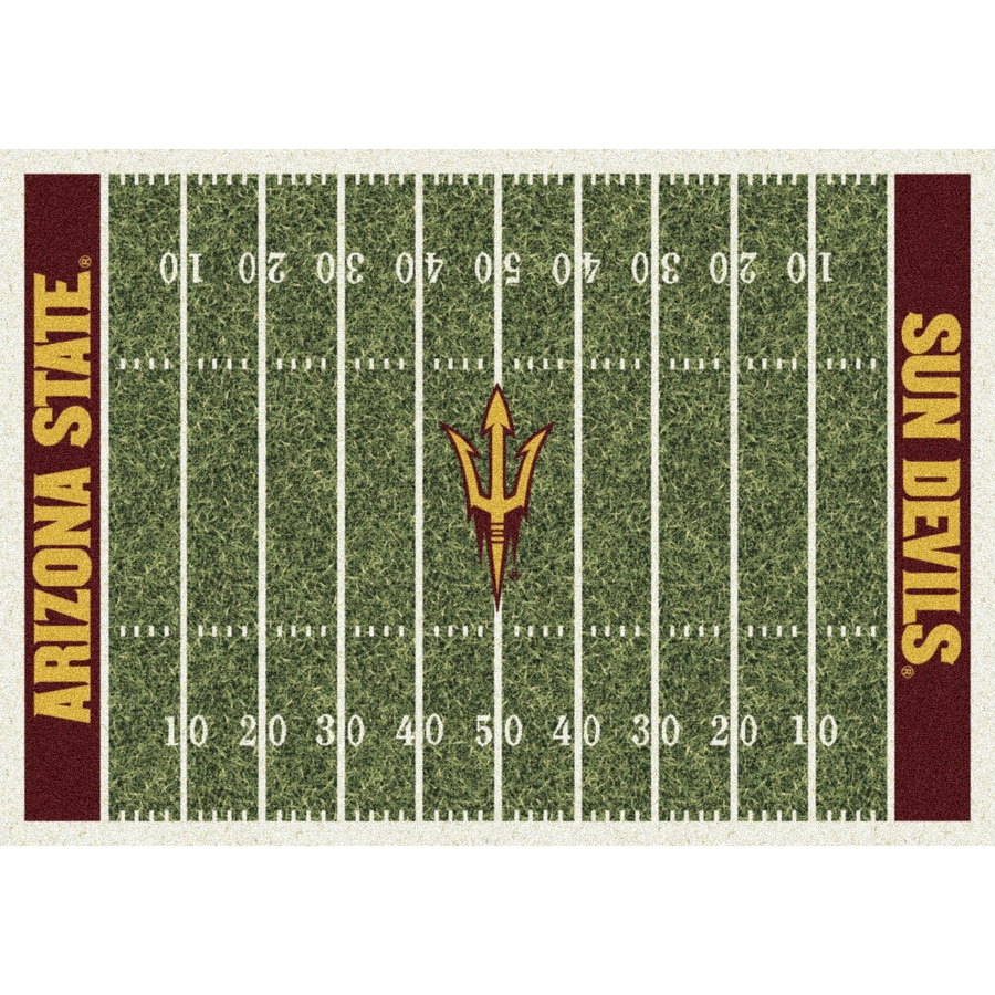 Milliken Rectangular Multicolor Sports Tufted Area Rug (Common: 5-ft x 8-ft; Actual: 5.333-ft x 7.66-ft)