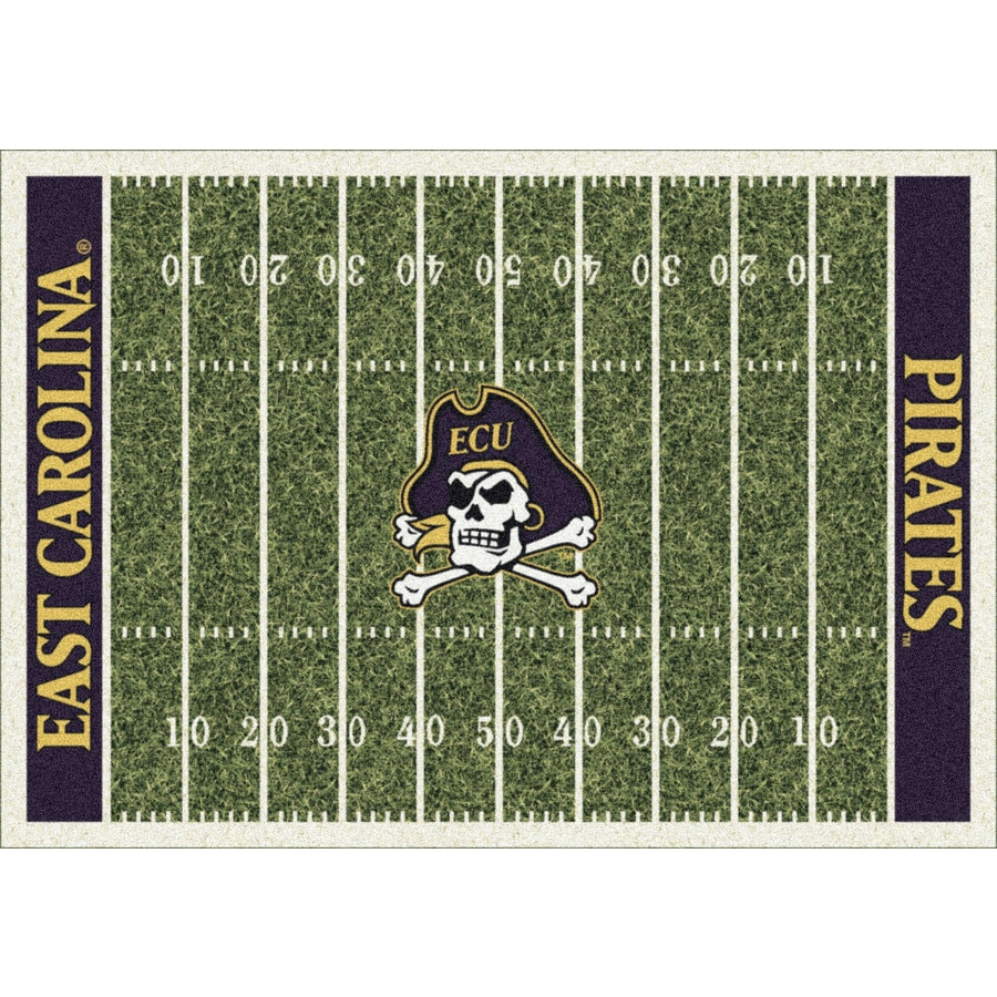 Milliken NCAA College Home Field Multicolor Rectangular Indoor Tufted Sports Area Rug (Common: 8 x 11; Actual: 7.67-ft W x 10.75-ft L)