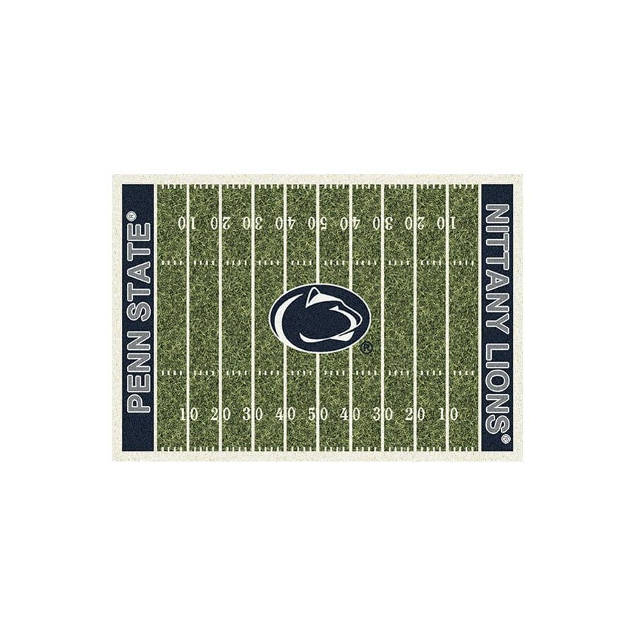 Milliken Rectangular Multicolor Sports Tufted Area Rug (Common: 5-ft x 8-ft; Actual: 5.33-ft x 7.66-ft)