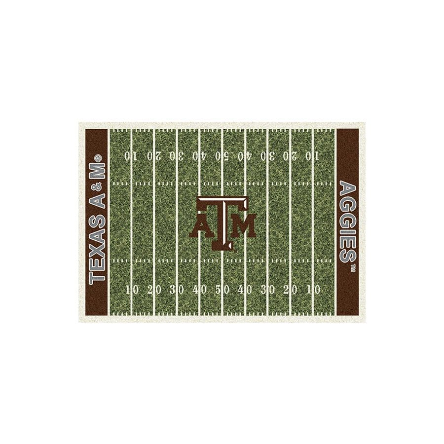 Milliken NCAA College Home Field Multicolor Rectangular Indoor Tufted Sports Area Rug (Common: 5 x 8; Actual: 5.33-ft W x 7.67-ft L)