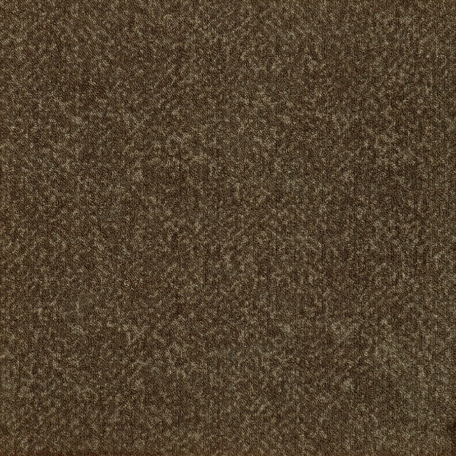 Milliken 12-Pack 19.7-in x 19.7-in Java Brown Textured Peel-and-Stick Carpet Tile