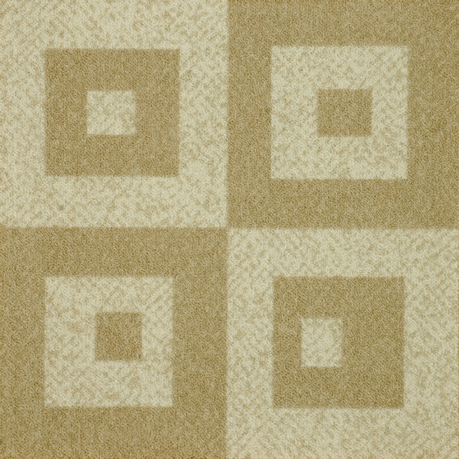 Milliken 12-Pack 19.7-in x 19.7-in Casual Cream Textured Adhesive-Backed Carpet Tile