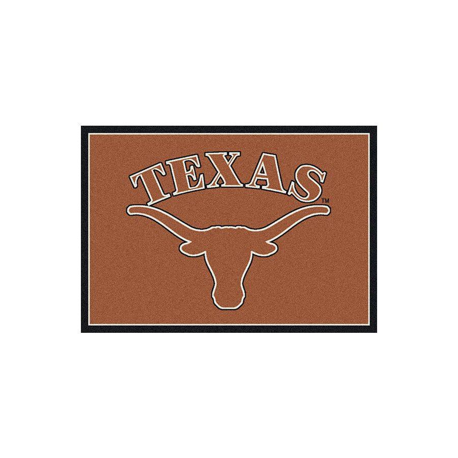 Milliken 7-ft 8-in x 10-ft 9-in Rectangular College Spirit Texas Area Rug