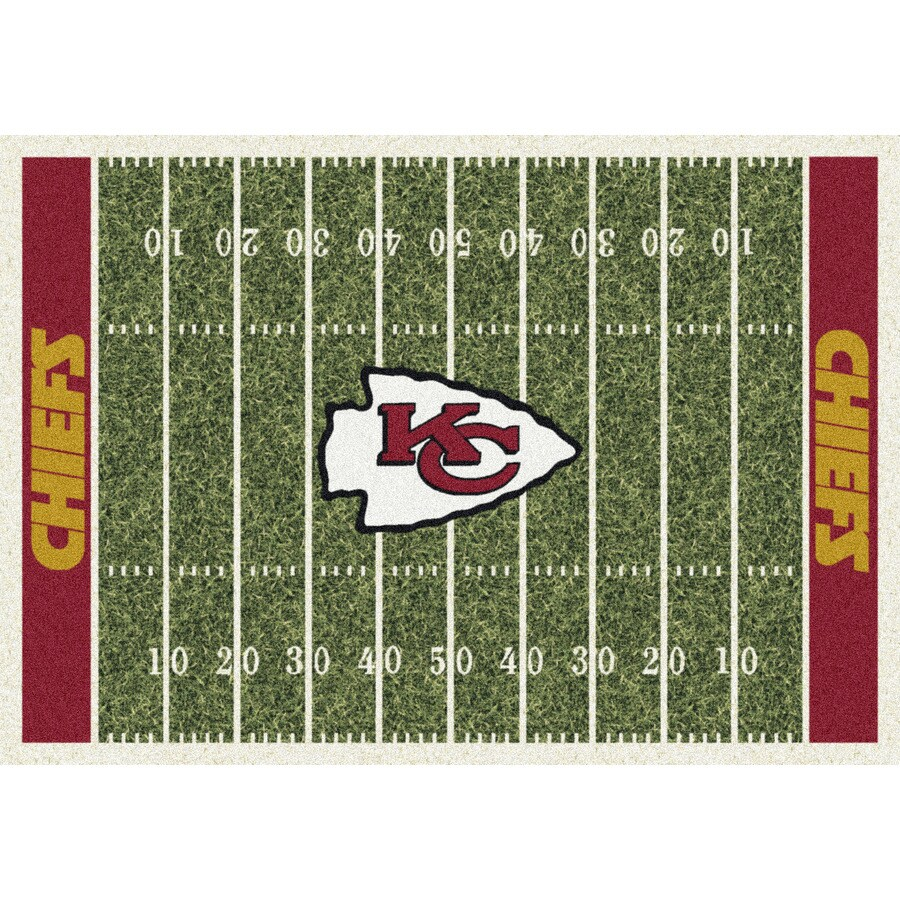 Milliken NFL Home Field Multicolor Rectangular Indoor Tufted Sports Area Rug (Common: 5 x 8; Actual: 64-in W x 92-in L)