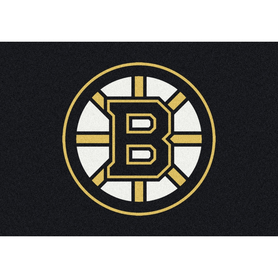 Milliken NHL Spirit Multicolor Rectangular Indoor Tufted Sports Area Rug (Common: 5 x 8; Actual: 64-in W x 92-in L)