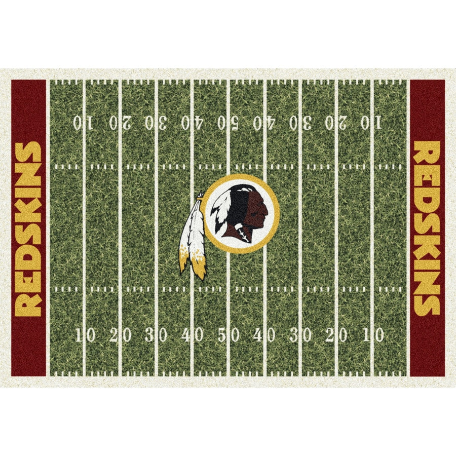 Milliken NFL Home Field Multicolor Rectangular Indoor Tufted Sports Area Rug (Common: 8 x 10; Actual: 7.67-ft W x 10.75-ft L)