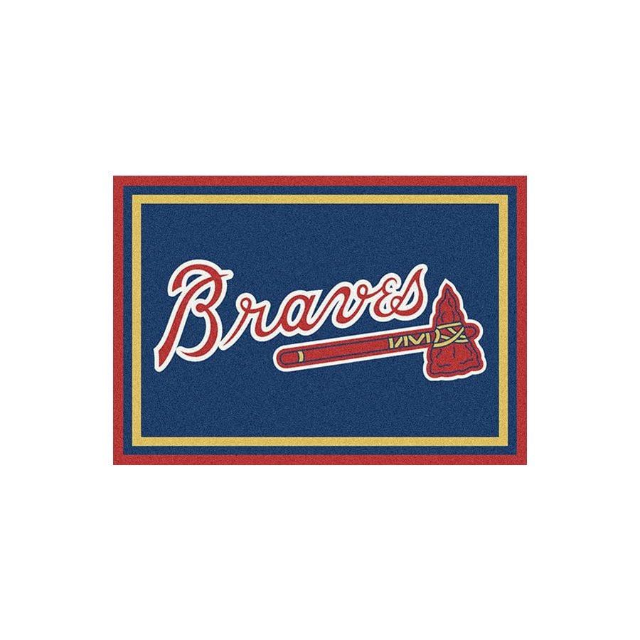 Milliken MLB Spirit Multicolor Rectangular Indoor Tufted Sports Throw Rug (Common: 3 x 4; Actual: 2.67-ft W x 3.83-ft L)