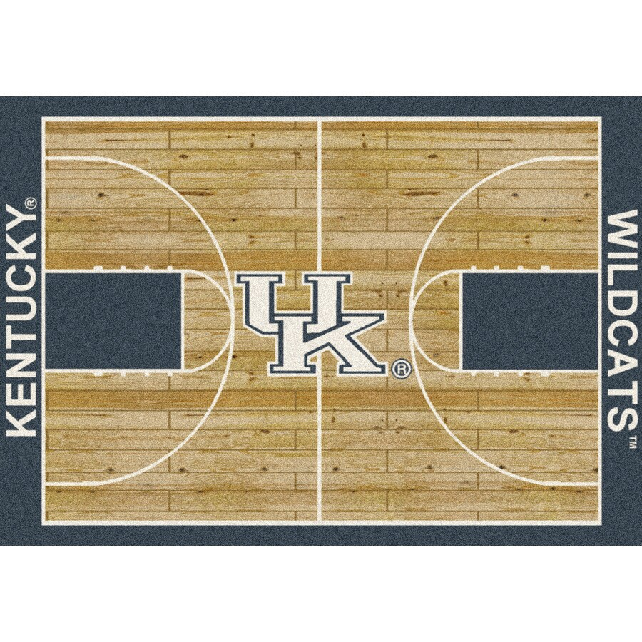 Milliken NCAA College Home Court Multicolor Rectangular Indoor Tufted Sports Area Rug (Common: 5 x 8; Actual: 64-in W x 92-in L)