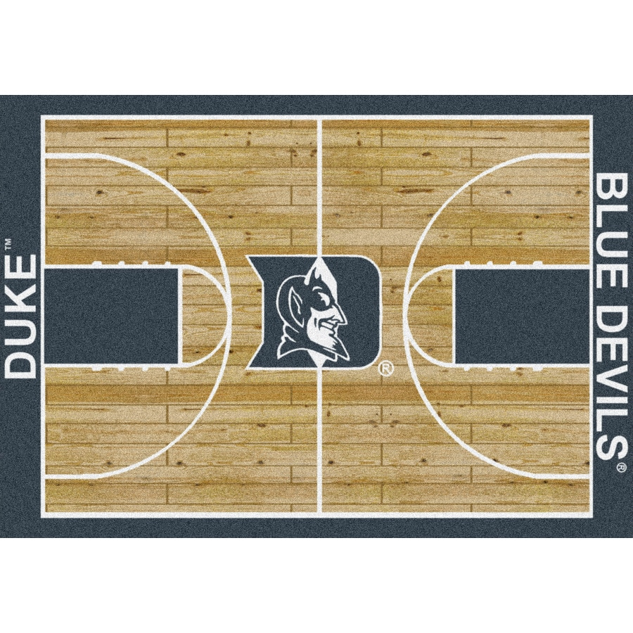Milliken NCAA College Home Court Multicolor Rectangular Indoor Tufted Sports Area Rug (Common: 5 x 8; Actual: 5.33-ft W x 7.67-ft L)