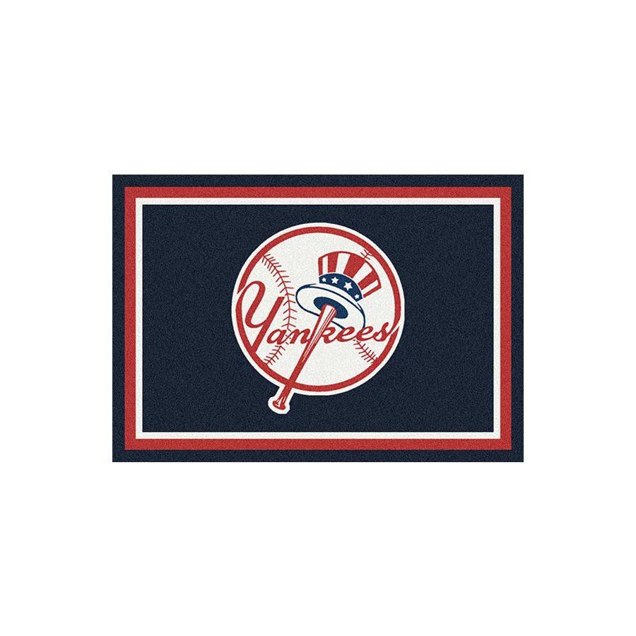 Milliken MLB Spirit Black Rectangular Indoor Tufted Sports Throw Rug (Common: 3 x 4; Actual: 2.67-ft W x 3.83-ft L)