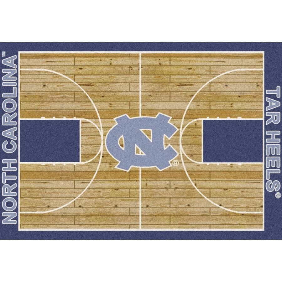 Milliken NCAA Home Court Brown Rectangular Indoor Tufted Sports Area Rug (Common: 5 x 8; Actual: 5.33-ft W x 7.67-ft L)