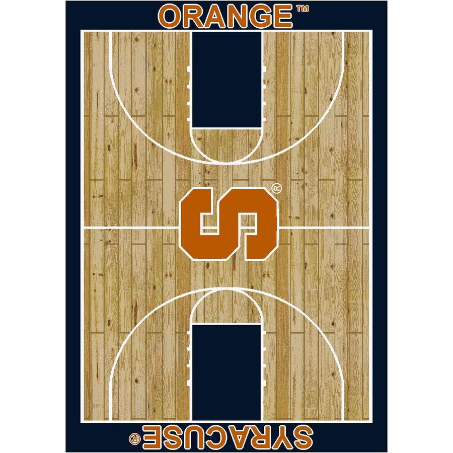Milliken NCAA Home Court Brown Rectangular Indoor Woven Sports Area Rug (Common: 5 x 8; Actual: 64-in W x 92-in L)