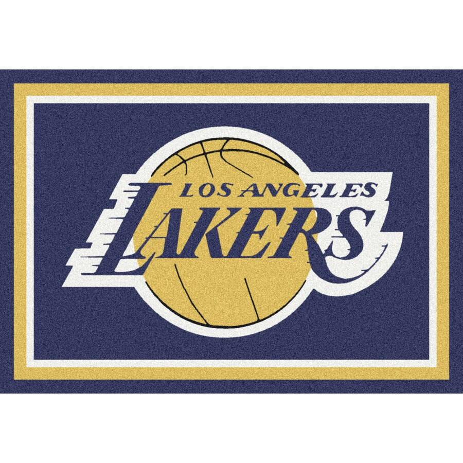 Milliken NBA Spirit Purple Rectangular Indoor Tufted Sports Throw Rug (Common: 3 x 4; Actual: 2.67-ft W x 3.83-ft L)